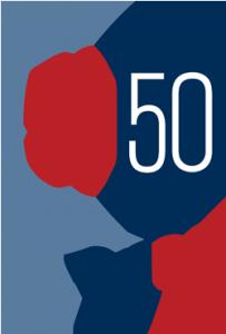 50/50 in 2020 typographic Logo